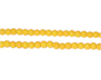 4mm Yellow Gold Team and School Glass Bead, approx. 102 beads