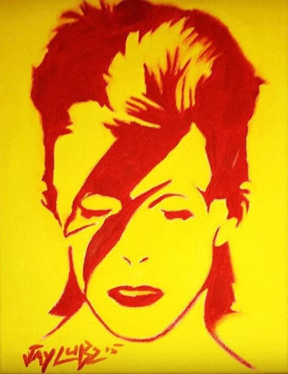 David Bowie Aladdin Sane print made from my original Oil