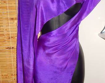 Hand Dyed Silk Hips Fringed Hip Scarf Belt Boho Hippie Style Festival Wear Silk Shawl Scarf Nomad Style Belt Sahariah's Tribe