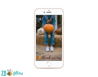 Happy Thanksgiving Party Instant Download SNAPCHAT GEOFILTER