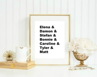 Vampire Diaries Digital Download Print » Quote Print » TVD Print » Office Print » The Vampire Diaries Print » Digital Print