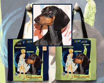 CUSTOM Dog Portrait ,Cat Portrait, Dog Art Tote Bag Movie Poster NEW by Nobility Dogs