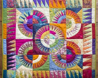 New York Beauty - Patchwork Throw/ Quilt/ Wall hanging
