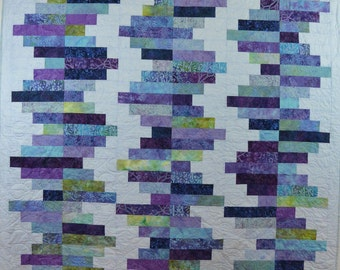 Wistful Lavender and Blues Quilt