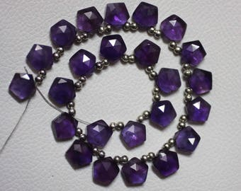10 pieces AAA Grade AMETHYST Faceted Pentagon Briolette Beads, Size 10 mm, Super Quality for Jewellery