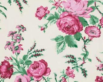 1 Yard Billet Doux  Fabric Vintage Garden Club in Cherub Verna Mosquera PWVM095