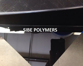 "Black Acrylic Plexiglass 1/4"" you pick the size"