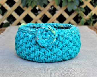 Mother's day gift, Gender neutral baby shower gifts, Baby room decor, Vanity basket, Crochet storage, Nursery organization, Kids room decor