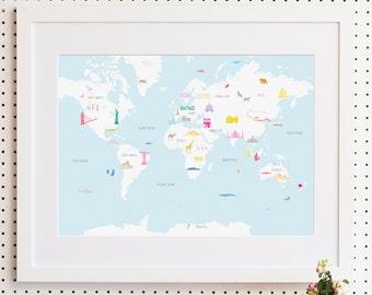 Wonders of the World Print