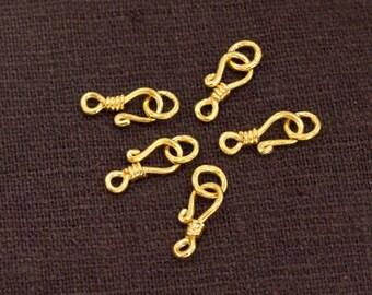 5 of Karen hill tribe 24k Gold  Vermeil Style Clasps 11.5 mm. :vm1060