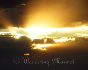 Utah Desert Sunset Photo, Southwest Desert Landscape Photo, Desert Photo
