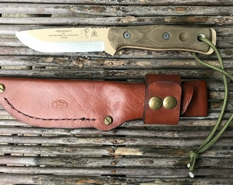 TOPS Fieldcraft Brothers by Bushcraft handmade (left hand) leather knife sheath.