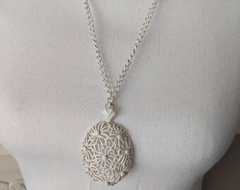 Vintage Monet Enamel Floral Necklace