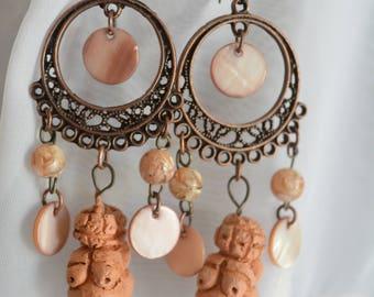 Venus of Willendorf  Chandelier Earrings