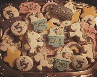 Unicorn - Decorated Sugar Cookies - 1 dozen
