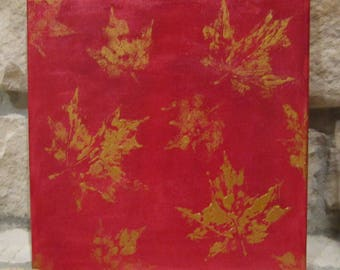 Canvas Painting - Fall/Autumn Leaves