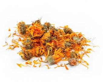Organic dried calendula 50/100/1000 1.1 pounds 2.2 pounds