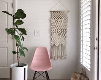 Macrame Patterns/Macrame Pattern/ Macrame Wall Hanging Pattern/Wall Hanging Pattern/DIY Macrame/Name: Long Overhand