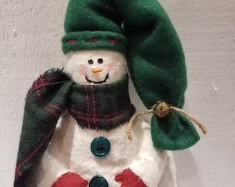 Snowman Shelf Sitter,Snowman,Country Snowman,Primitive Snowman,Christmas Decor,Winter Decor,Holiday Decor