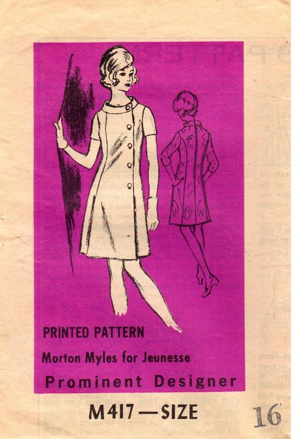 1960er Jahre Versandhandel M417 Entwerfer Vintage Nähen Muster