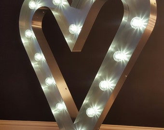 Marquee light up sign 4ft Heart