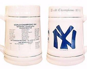 New York Yankees 24oz 1941 World Series Championship Stein Tankard Mug