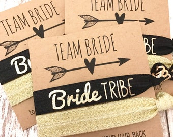 Bachelorette Party Favor | Bride Tribe Pa Hair Tie Favor [GoldBrideTribe] | Survival Kit | To Have and To Hold