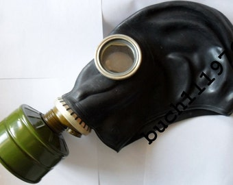 Ussr RUBBER Gas mask Respirator GP-5 russian black soviet military new, size (0)-XS, (1)-S, (2)-M, (3)-L, (4)-Xl