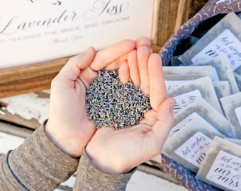 Lavender Bud Wedding Send Off - Best Wishes for the Mr Mrs - Purple - Confetti Alternative - Petal Toss - 25 finished tossing packets