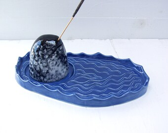 Narwhal Incense Burner. Ready To Ship. Ceramic Incense Burner In The Shape Of A Narwhal.  With Incense For A Tusk.