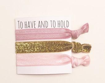 Bridesmaid hair tie favor//party favor, bridesmaid gift,hair tie card, bachelorette favor, wedding, bachelorette gift, bridesmaids, hair tie