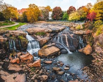 Fall For Greenville SC Falls Park Matte Print