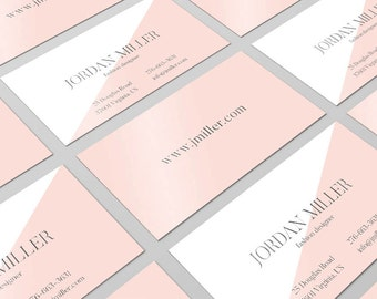 Rose Quartz, Business Card Design, Calling Card, Pantone Card, Modern Business Card, Pink Business Card, Custom Cards, Printable card