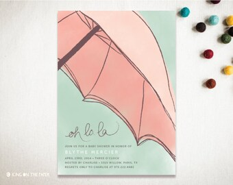 Baby Shower Invitation - Bridal Shower Invitation - Printable - Custom