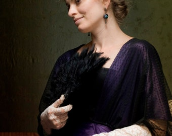 Edwardian Violet Dress, Titanic Era Gown, Downtown Abbey 1910s Costume