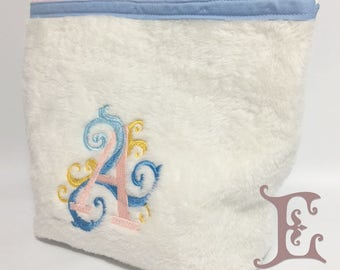 Initials - Embroidered Multifunctional Plush Necessaire