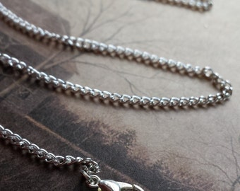 """24"""" silver plated chain necklace, you choose amount!"""