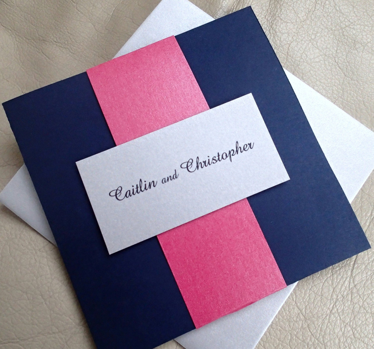Luxury Navy Blue Wedding Invitations Modern Photos - Invitation Card ...