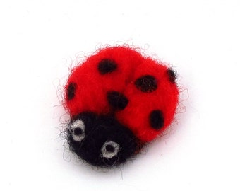 Needle felted Ladybug Ladybird - cute felt animal - Pocket ladybug - Good luck gift - pocket animal
