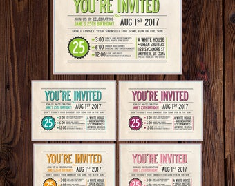 Digital Download Invite, Birthday Invitation, Birthday party invite, Dance Party invite, Celebration invite,