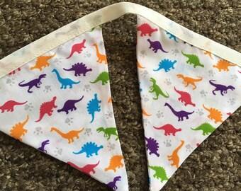 Bright & Colourful Dinosaur Bunting