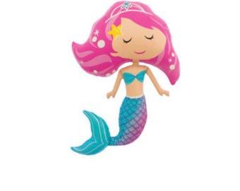 Mermaid Jumbo Balloon ~ Under The Sea Party ~ Mermaid Party ~ Mermaid Birthday ~ Lets Be Mermaids ~ Mermaid Decor ~ 45 Inch Jumbo Balloon