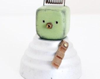 NOBOT, ROBOT, sculpture, figure,girl, metal, block,
