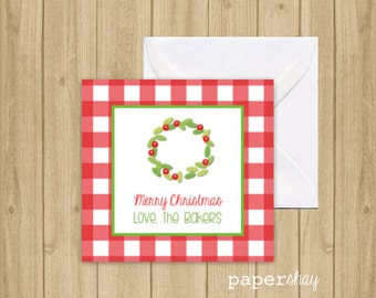 Enclosure Gift Cards, Gift Tags, Stickers, Christmas Gift Enclosure Cards, Monogrammed Stationery Note Cards, Greeting Cards