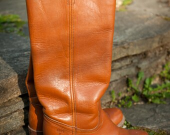 "Classic Tall Vintage Chestnut Frye Riding ""Campus"" Boots Womens Size 6.5B"