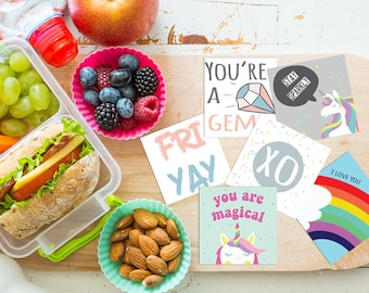 Lunch Box Notes for Kids,PRINTABLE,Lunch Box Note cards,Back to School Notes,Inspirational Cards,Assorted Lunch Notes,lunch box love notes