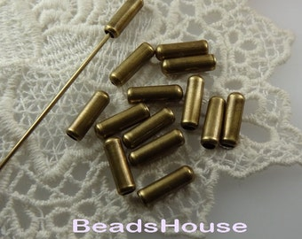 10 pcs Antique Brass Plated Stick- Pin Cover,Nickel Free