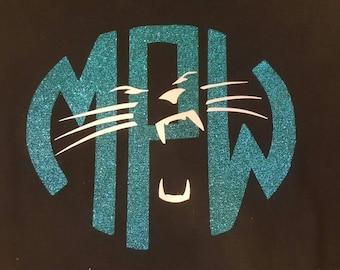 Carolina Panther Monogram Short Sleeve