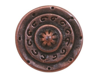 12 Gladiator 3/4 inch ( 20 mm ) Dill Metal Buttons Antique Copper Color