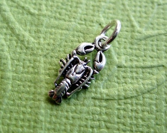 Lobster Sterling Silver Petite Nautical Charm